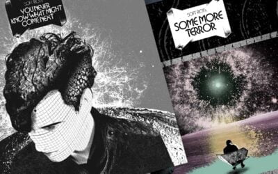 "Soft Riot - ""You Never Know What Might Come Next"" LP + ""Some More Terror"" LP covers"